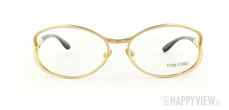 Lunettes de vue Tom Ford Tom Ford 5059 doré/noir - vue de face