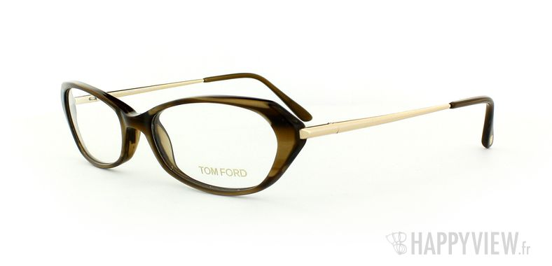 Lunettes de vue Tom Ford Tom Ford 5134 marron/doré - vue de 3/4