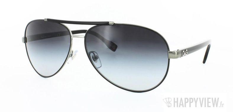Lunettes de soleil Dolce & Gabbana Dolce&Gabbana 6047 argenté/noir - vue de 3/4