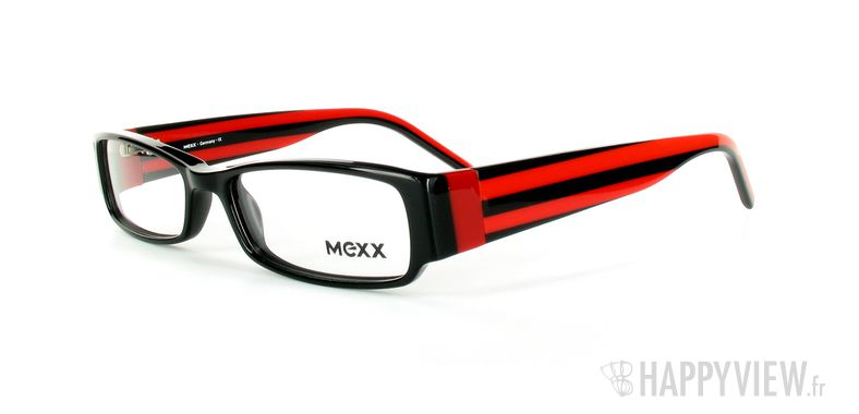 Lunettes de vue Mexx Mexx 5371 noir/rouge - vue de 3/4