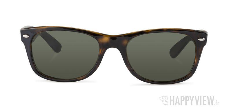 Lunettes de soleil Ray-Ban RB 2132 New Wayfarer écaille/vert - vue de face