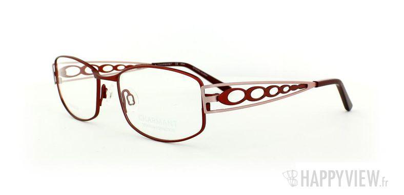 Lunettes de vue Charmant Charmant 10895 Titane rouge/rose - vue de 3/4