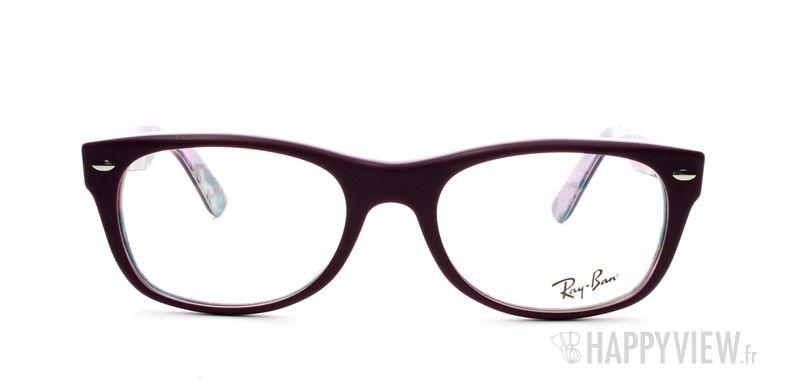 Lunettes de vue Ray-Ban Ray-Ban RX5184 New Wayfarer violet - vue de face