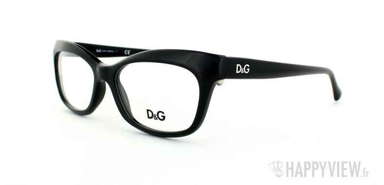 Lunettes de vue Dolce & Gabbana D&G 1232 noir - vue de 3/4