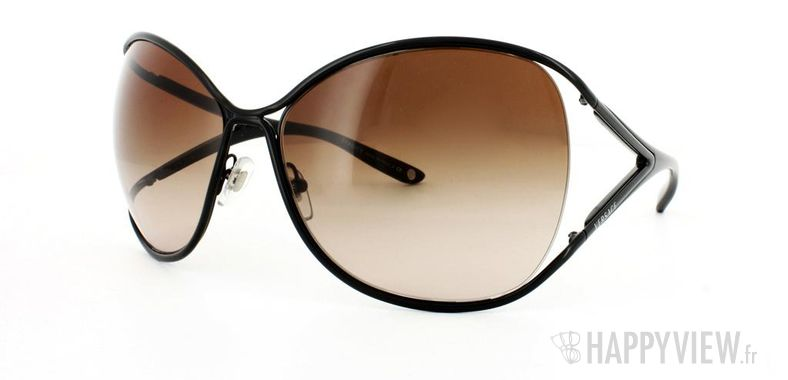 Lunettes de soleil Versace Versace VE2111 noir - vue de 3/4