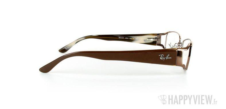 Lunettes de vue Ray-Ban Ray-Ban RX6157 marron - vue de côté
