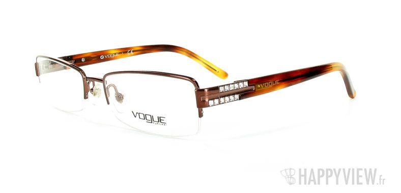 Lunettes de vue Vogue Vogue 3694B marron - vue de 3/4