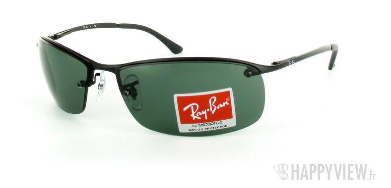 Lunettes de soleil Ray-Ban Ray-Ban RB3183 noir - vue de 3/4