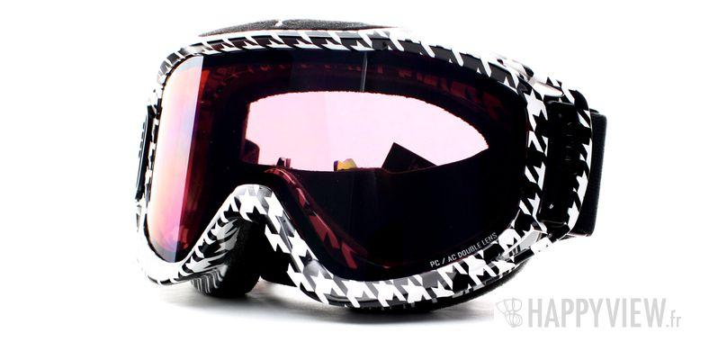 Lunettes de soleil Cébé Cébé Legend Large noir/blanc - vue de 3/4