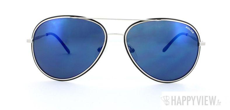 Lunettes de soleil Police Police S8299 argenté/bleu - vue de face