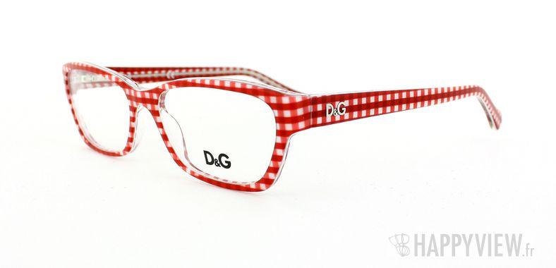 Lunettes de vue Dolce & Gabbana D&G 1216 rouge/blanc - vue de 3/4