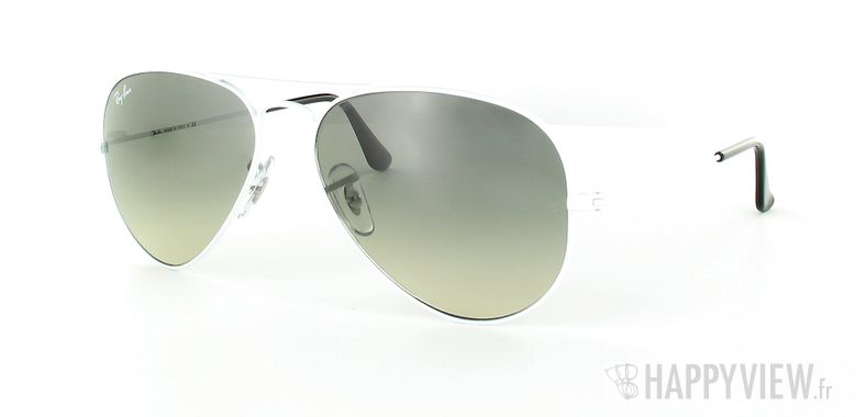 Lunettes de soleil Ray-Ban Ray-Ban Aviator blanc/gris - vue de 3/4