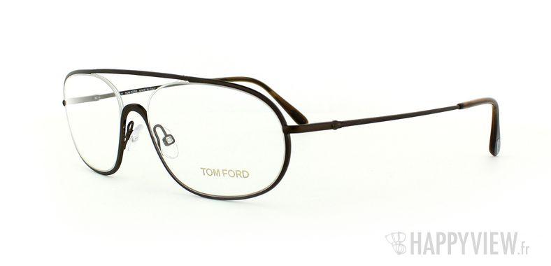 Lunettes de vue Tom Ford Tom Ford 5155 marron - vue de 3/4