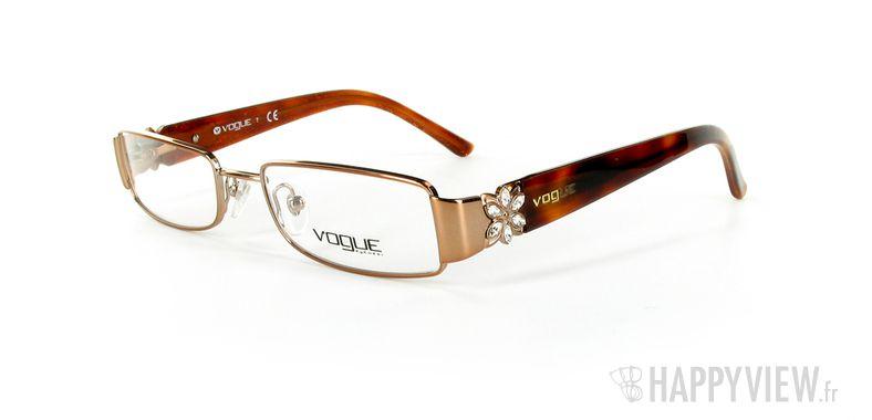 Lunettes de vue Vogue Vogue 3688 marron - vue de 3/4