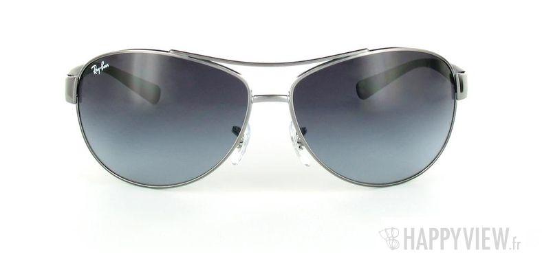Lunettes de soleil Ray-Ban Ray-Ban RB3386 argenté/bleu - vue de face