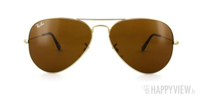 Lunettes de soleil Ray-Ban Ray-Ban Aviator Large doré/orange - vue de face