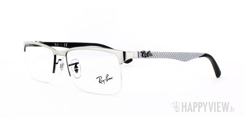 Lunettes de vue Ray-Ban Ray-Ban RX8411 Carbone argenté - vue de 3/4