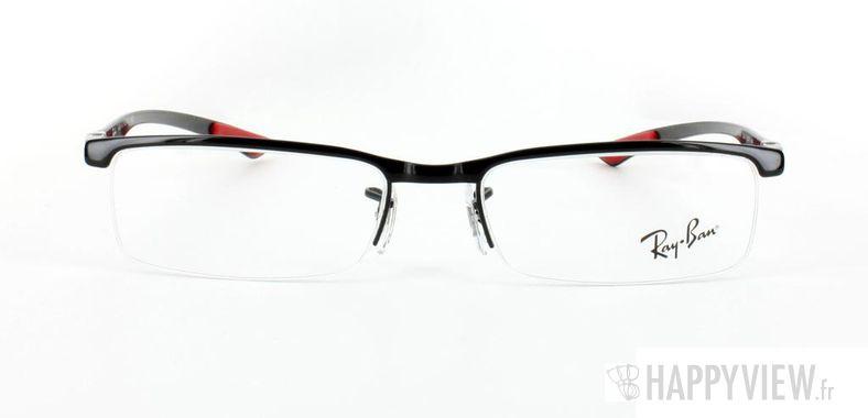 Lunettes de vue Ray-Ban Ray-Ban RX8406 Carbone noir/rouge - vue de face