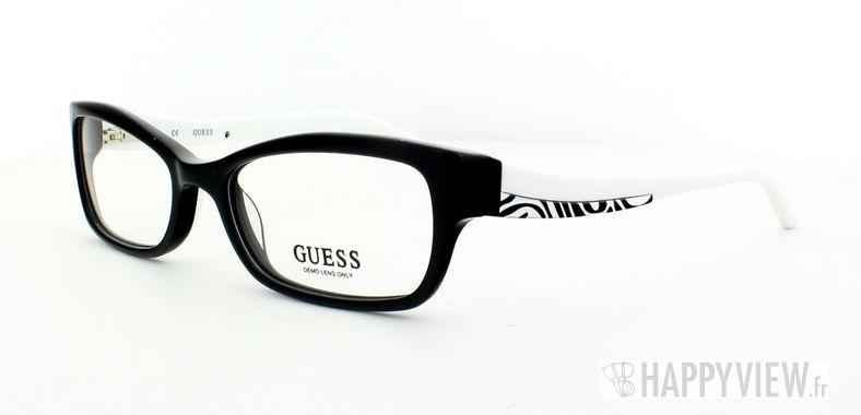 Lunettes de vue Guess Guess 2261 blanc/noir - vue de 3/4
