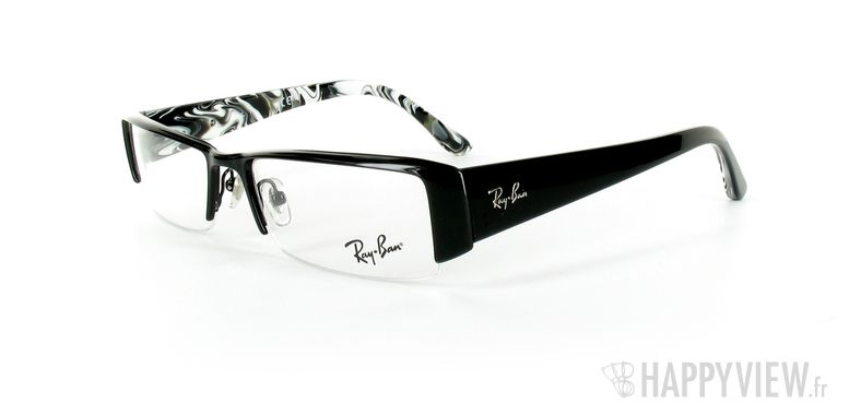 Lunettes de vue Ray-Ban Ray-Ban RX6151 noir/écaille - vue de 3/4