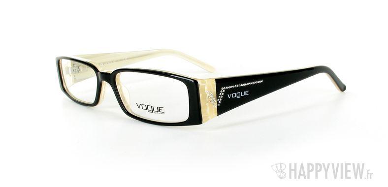 Lunettes de vue Vogue Vogue 2557B noir/marron - vue de 3/4