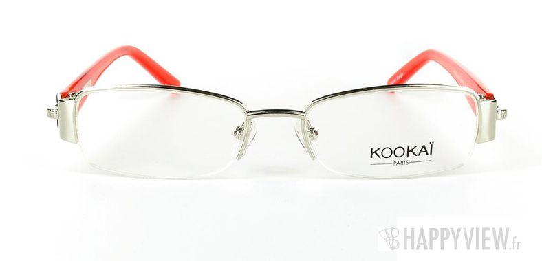 Lunettes de vue Kookaï Kookai 104 rouge/argenté - vue de face