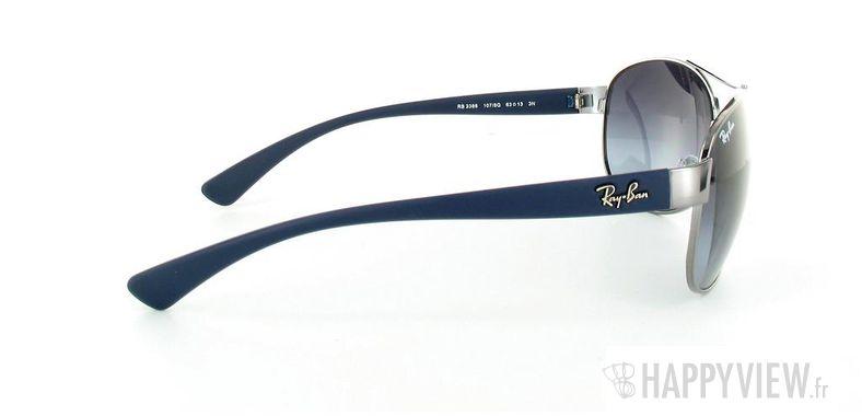 Lunettes de soleil Ray-Ban Ray-Ban RB3386 argenté/bleu - vue de côté