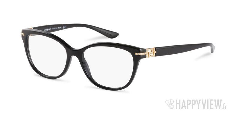 Lunettes de vue Versace VE 3205B noir - vue de 3/4