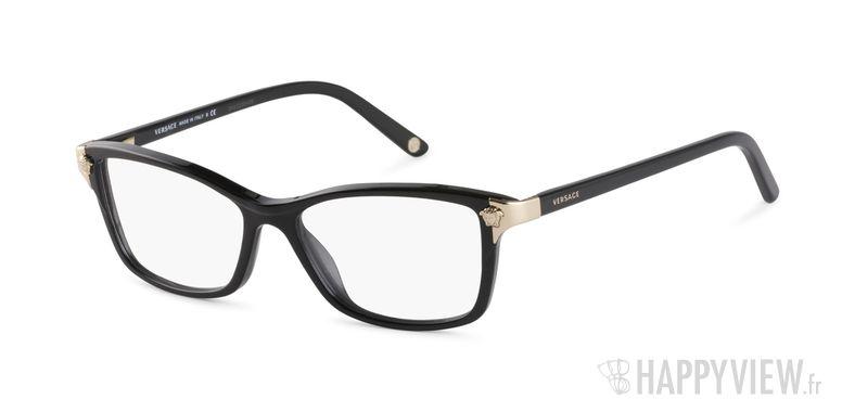 Lunettes de vue Versace VE 3156 noir - vue de 3/4