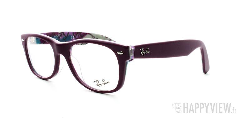 Lunettes de vue Ray-Ban Ray-Ban RX5184 New Wayfarer violet - vue de 3/4