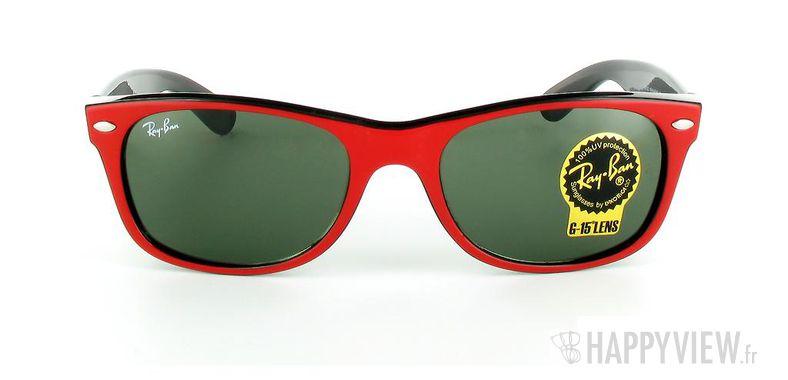 Lunettes de soleil Ray-Ban Ray-Ban New Wayfarer rouge/noir - vue de face