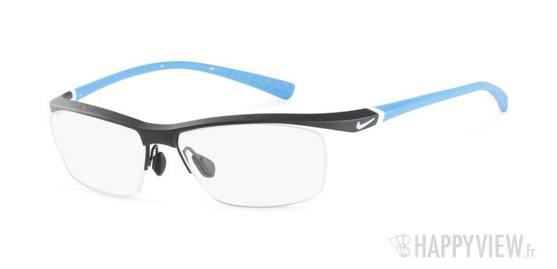 Lunettes de vue Nike 7070 bleu/noir - vue de 3/4