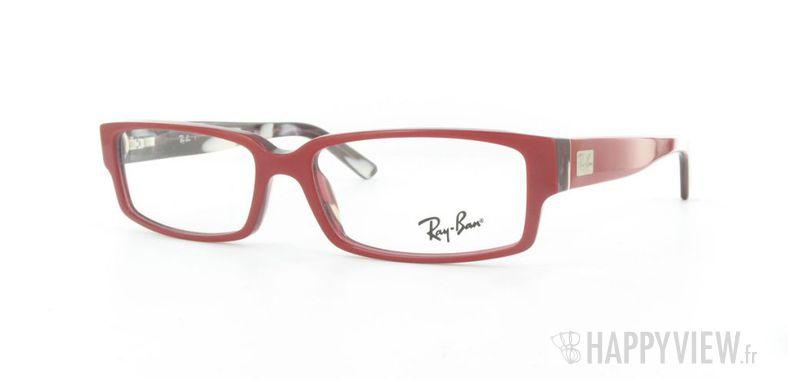 Lunettes de vue Ray-Ban Ray-Ban RX5144 rouge - vue de 3/4