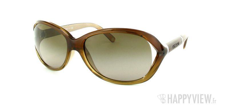 Lunettes de soleil Versace Versace VE4186 marron - vue de 3/4