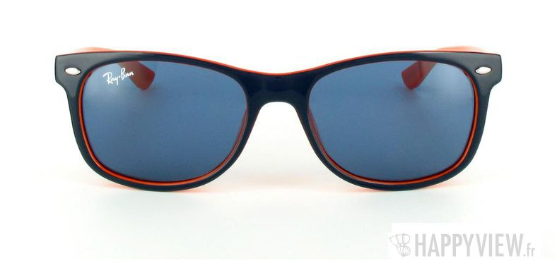 Lunettes de soleil Ray-Ban Ray-Ban Junior New Wayfarer bleu/orange - vue de face