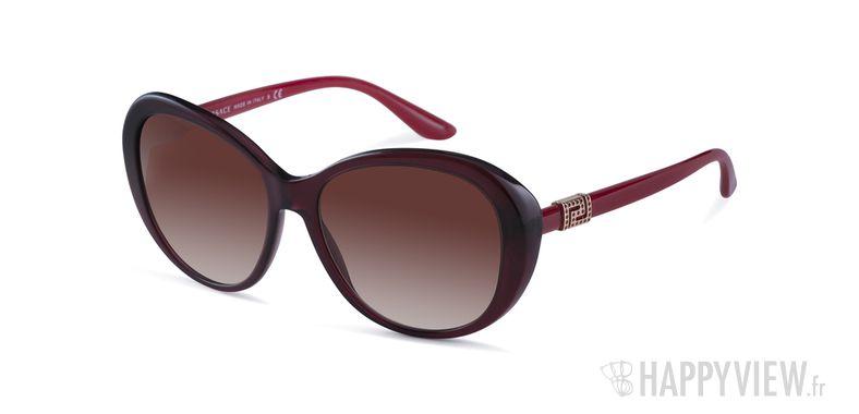 Lunettes de soleil Versace VE 4324B rouge - vue de 3/4
