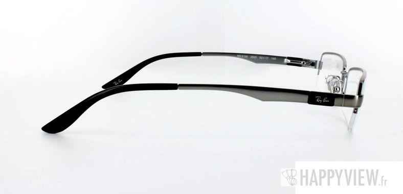 Lunettes de vue Ray-Ban Ray-Ban RX6156 argenté/noir - vue de côté