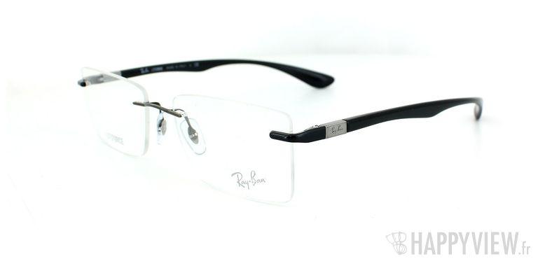 Lunettes de vue Ray-Ban Ray-Ban RX8720 Titane noir - vue de 3/4