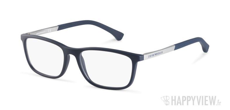 Lunettes de vue Emporio Armani EA 3069 bleu - vue de 3/4