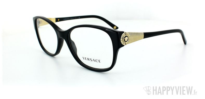 Lunettes de vue Versace Versace 3168B noir - vue de 3/4