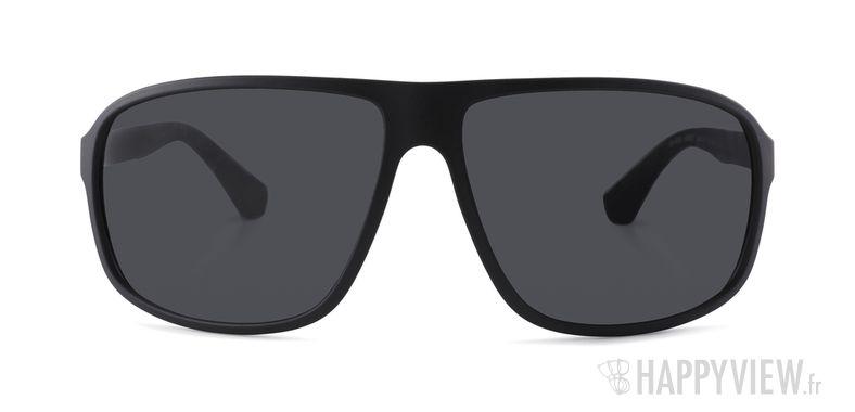 Lunettes de soleil Emporio Armani EA 4029 noir/rouge - vue de face