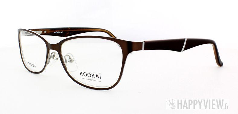 Lunettes de vue Kookaï Kookai 204 Titane marron - vue de 3/4
