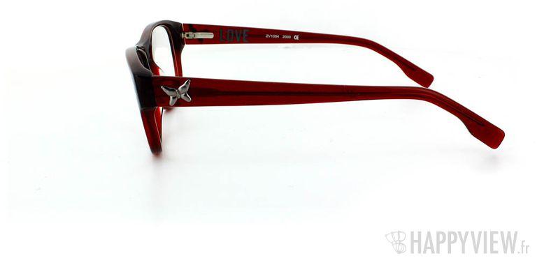 Lunettes de vue Zadig&Voltaire Zadig&Voltaire 1004 rouge - vue de côté