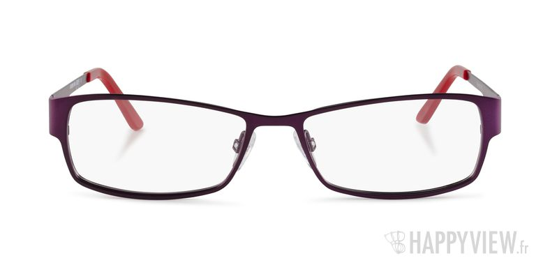 Lunettes de vue Le Temps des Cerises Flora violet/rouge - vue de face