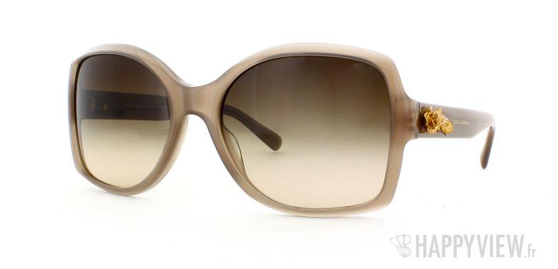 Lunettes de soleil Dolce & Gabbana Dolce & Gabbana 4168 marron - vue de 3/4