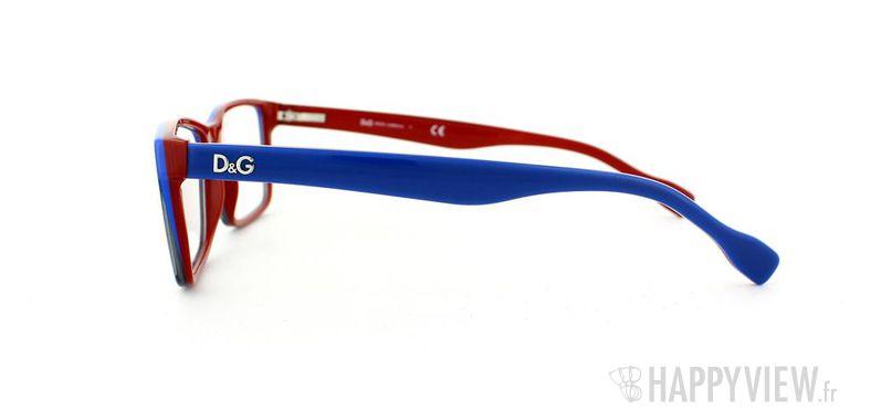 Lunettes de vue Dolce & Gabbana D&G 1233 bleu/rouge - vue de côté
