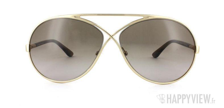 Lunettes de soleil Tom Ford Tom Ford Georgette doré - vue de face