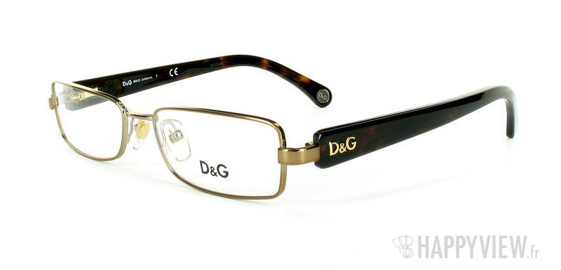Lunettes de vue Dolce & Gabbana D&G 5065 marron - vue de 3/4