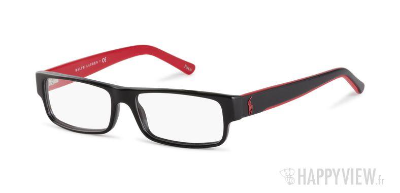 Lunettes de vue Polo Ralph Lauren PH 2058 rouge/noir - vue de 3/4