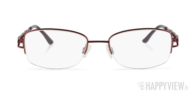 Lunettes de vue Charmant 10818 Titane rouge/marron - vue de face